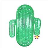 Cactus Grande Colchoneta Piscina para Las Mujeres,Piscina Inflable Tumbona Reclinable,Juguetes De Agua Al Aire Libre Flotando Balsa Cactus 180x140x20cm(71x55x8inch)