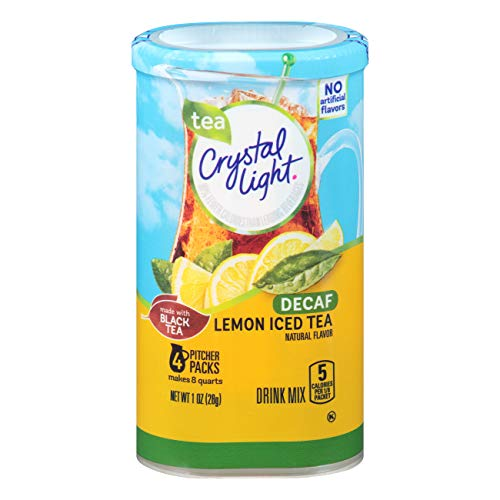 Crystal Light Decaffeinated Lemon Iced Tea Drink Mix (4 Pitcher Packets)