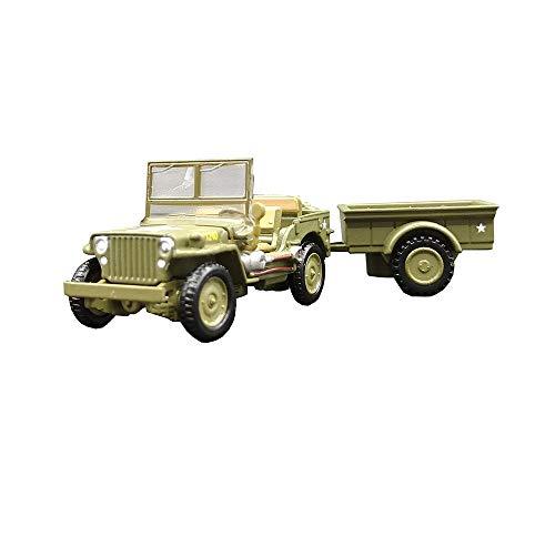 EP-Model Modello di Carro Militare, Modello di Rimorchio Jeep M151 1/72 della Seconda Guerra Mondiale, Edizione da Collezione
