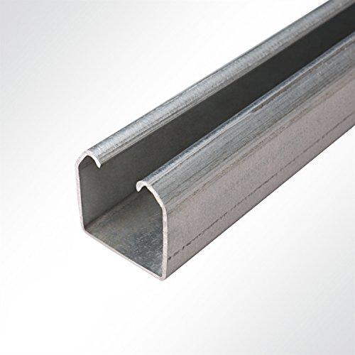 LYSEL Laufschiene verzinkt 48x48mm bis 350 Kg Schiebetor Schiebetür Hallentor 2 Meter