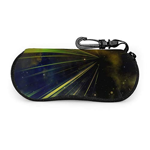 Universe Starry Sky Galaxy Sky Star - Funda protectora para gafas de viaje portátil con cremallera de neopreno suave para gafas con cremallera y gancho para cinturón