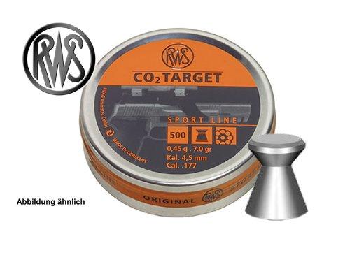 500 Stück RWS Flachkopf-Diabolo CO2 TARGET, für Luftpistole, Kal. 4,5 mm, 0,45 g