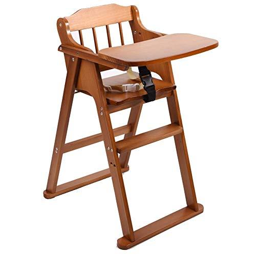 QQXX Baby hoge stoelen eettafel stoelen opvouwbaar draagbaar massief hout Gratis installatie Home ZHANGQIANG (kleur: koffie, grootte: groot) ZQANG4315r-4 Zqang4315r-4