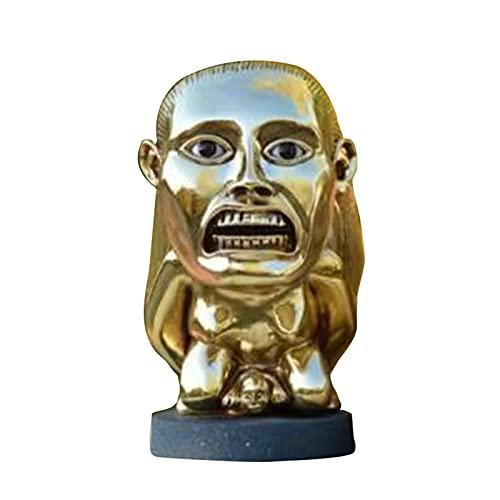 Zhantie Indiana Jones - Adornos de decoración de icono dorado para interior de coche, sala de estar, dormitorio, oficina