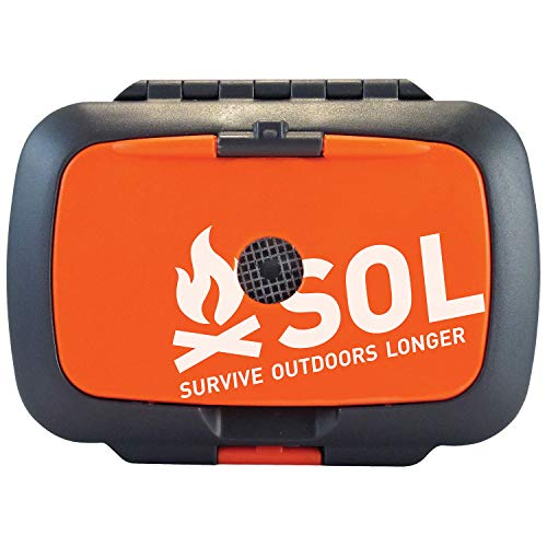Includes 11 different survival tools, a sewing needle, and a survival instruction guide Kit measures 3.875 x 2.75 x 1.5 inches, and weighs approximately 6.1 ounces Ultra-bright LED light offers 15 hours of run time and easily replaceable batteries fo...