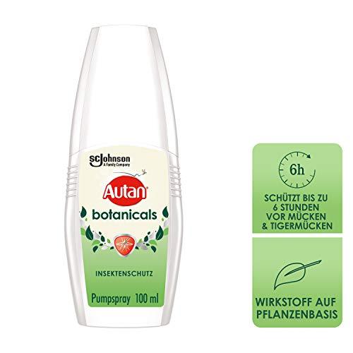 Autan Botanicals Pumpspray Insektenschutz, natürlicher Wirkstoff aus Zitronen Eukalyptus-Öl, 1er Pack (1x 100 ml)