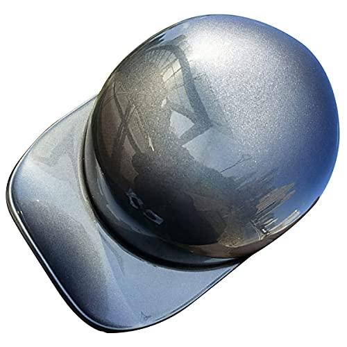 qwert Medio casco de motocicleta, casco de verano estilo gorra de béisbol, casco vintage de cara abierta, casco Cruiser Chopper ciclomotor, certificado DOT (M-XXL, 54-62cm)