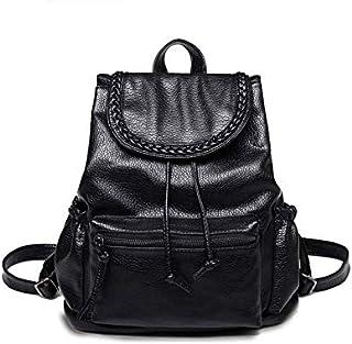 pattern Korea fashion Joker Ladies' shoulder bag leisure Pu soft leather knapsack backpack