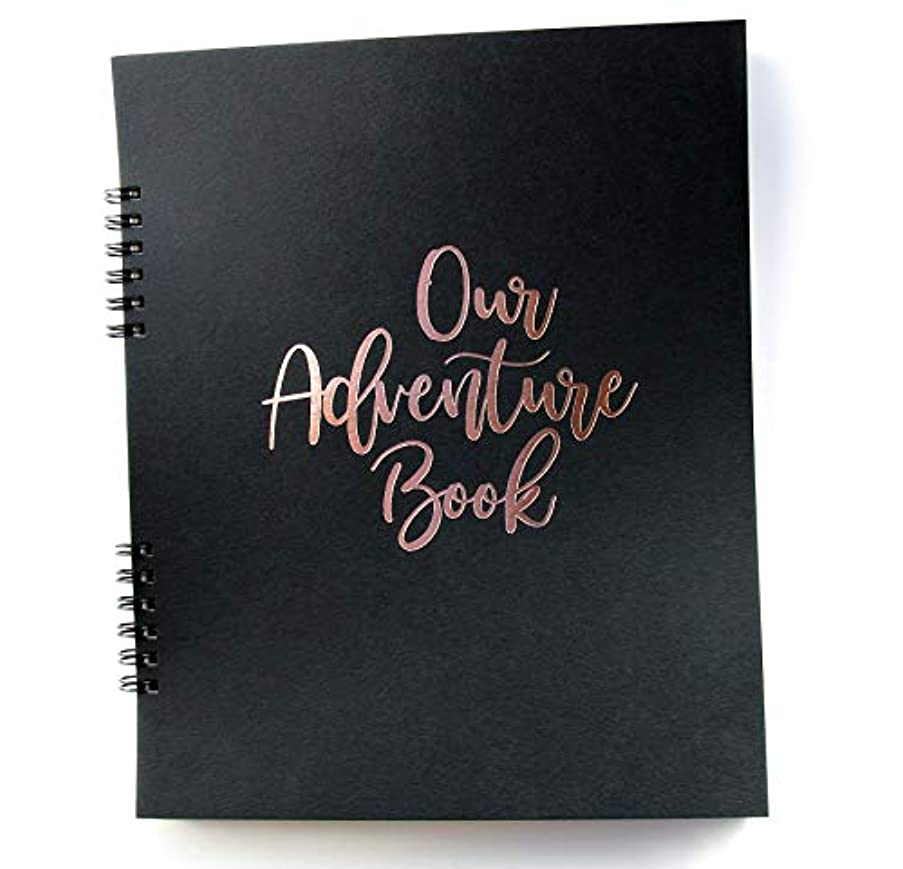 Our Adventure Book, Rose Gold Embossed on Black 9.25