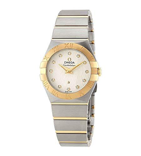 Omega Constellation reloj de las señoras del dial de plata 123.20.27.60.52.001