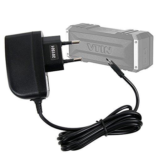 DURAGADGET Cargador (2 Amperios) para Altavoz Portátil Vtin Royaler/Vtin Punker - con Conexión Micro USB Y Enchufe Europeo De Pared