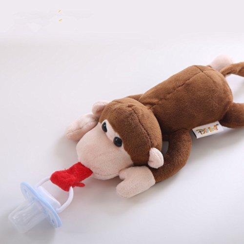 changshuo JugueteDePeluche Chupete De Bebé Extraíble con Tapa Chupetes De Juguete Pezón De Silicona Elefante De Alimentación Simulada para Recién Nacidos
