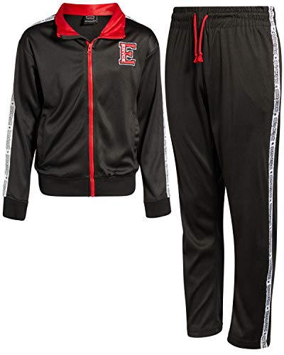 Enyce Boys 2-Piece Performance Tracksuit Set with Zip-Up Jacket and Jog Pants, All Black, Size 4'