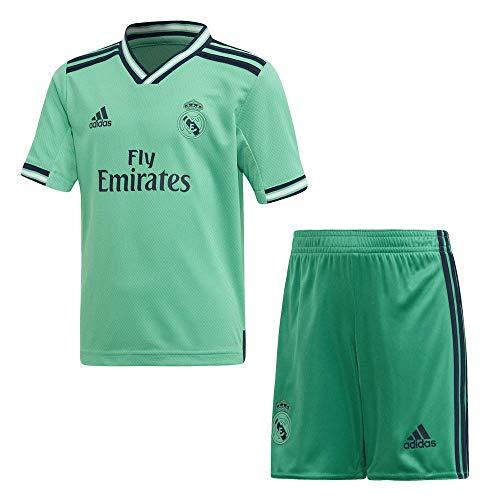 adidas Miniconjunto Tercera Equipacion Real Madrid Fútbol, Unisex Niños, Verde (Hi-Res Green), 116