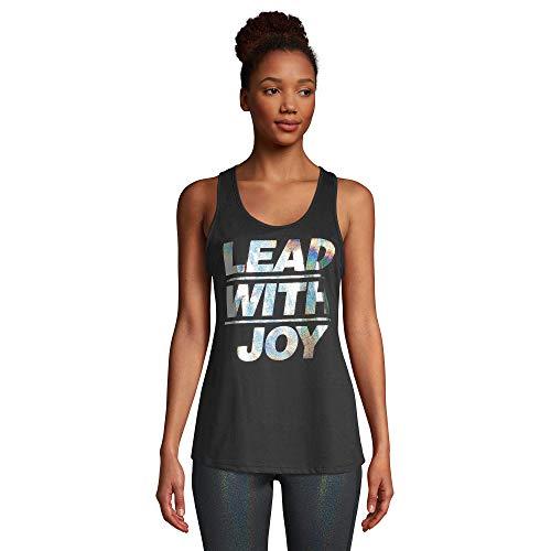 Zumba - Camiseta sin mangas de entrenamiento para mujer, color negro, holgada, con una impresión gráfica, ideal para bailar, fitness e ir al gimnasio - negro - X-Large