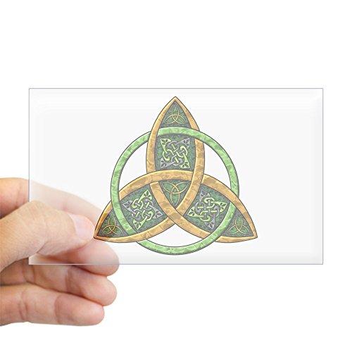 CafePress Celtic Trinity Knot Rectangle Sticker Rectangle Bumper Sticker Car Decal