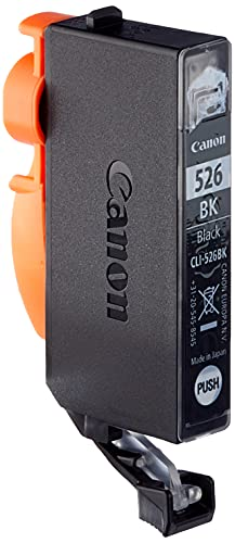 Canon CLI-526 Cartucho de tinta original Negro para Impresora de Inyeccion de tinta Pixma iP4850-iP4950-Ix6550-MG5150-MG5250-MG5350-MG6150-MG6250-MG8150-MG8250-MX715-MX885-MX895