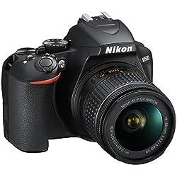 Nikon D3500 Fotocamera Reflex Digitale con Obiettivo Nikkor AF-P 18-55, F/3.5-5.6G VR DX, 24.2 Megapixel, LCD 3´´, SD da 16 GB 300x Premium Lexar, Nero