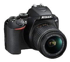 Idea Regalo - Nikon D3500 Fotocamera Reflex Digitale con Obiettivo Nikkor AF-P 18-55, F/3.5-5.6G VR DX, 24.2 Megapixel, LCD 3