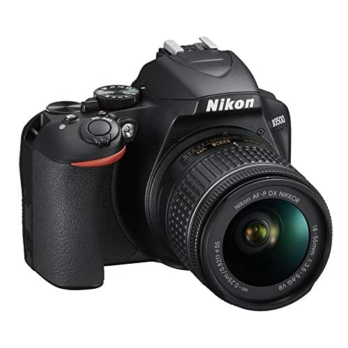 Nikon D3500 Fotocamera Reflex Digitale con Obiettivo Nikkor AF-P 18-55, F/3.5-5.6G VR DX, 24.2 Megapixel, LCD 3