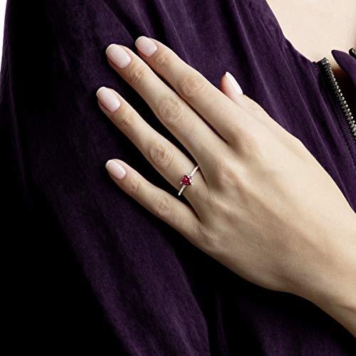 Swarovski Anello One Heart, Rosso, Placcatura Rodio