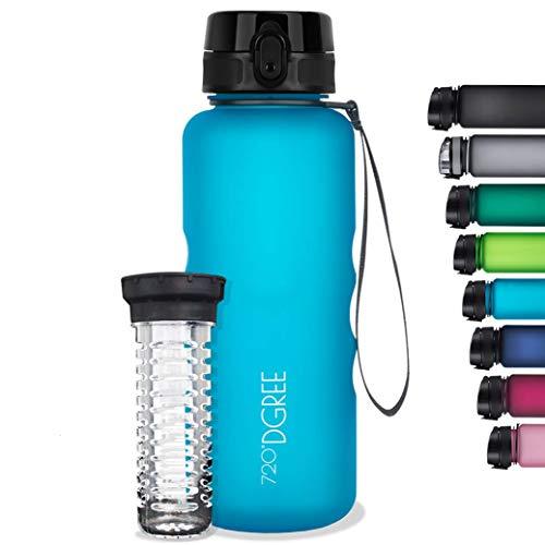 720°DGREE Botella de Agua uberBottle – 350 ml, 350ml, Azul | Novedosa Botella Deportiva | Sin BPA | Ideal para niños,...