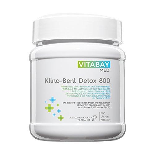 Klino-Bent DETOX 800 - Zeolith/Bentonit - Entgiftung & Schwermetallausleitung - 480 vegane Kapseln