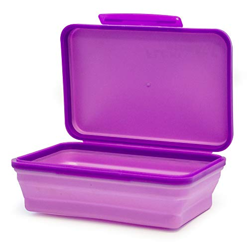 It's Academic Flexi Storage Box, Folding, Collapsible and Adjustable for Pencils, Supplies, and More, Purple