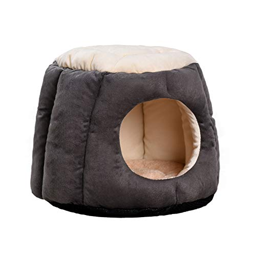 Creative Pet Nest with Two Uses Cozy Dog Cat Nest & Mat House Bed Fleece Rest Bag Mat for Dogs, Cats and Rabbits