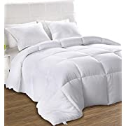Utopia Bedding Couette, Couette en Microfibre, hypoallergénique - Blanc