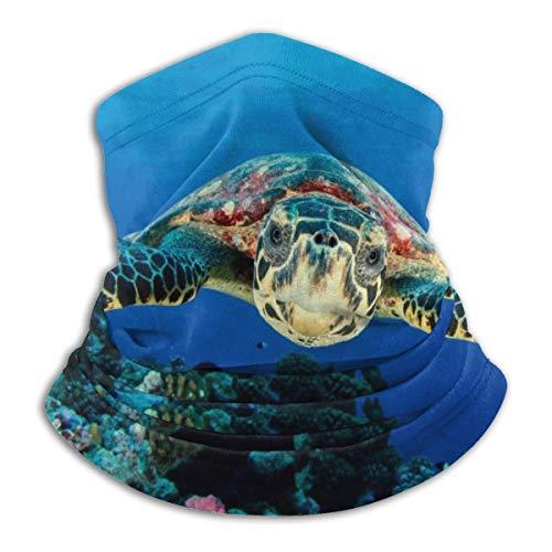 Akhy Multifunctional Headwear Face Mask Headband Neck Gaiter Sea Turtle Balaclava for Men and Women