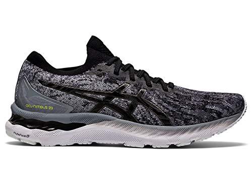 ASICS Men's Gel-Nimbus 23 Knit Running Shoes, 7M, Sheet Rock/Black/Knit