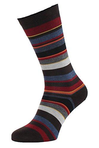 Albert Kreuz Herren Ringel-Socken in dezenten Farben - Streifen-Strümpfe mehrfarbig 39-41