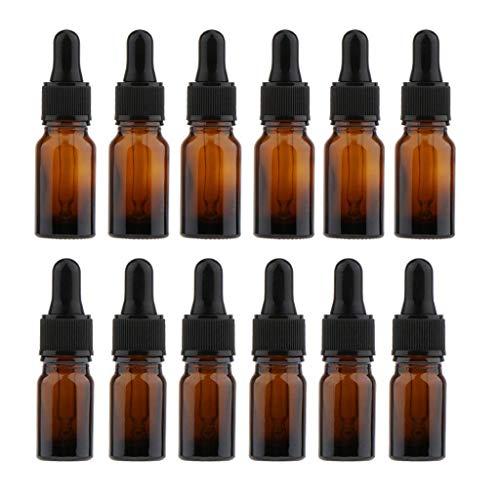 Backbayia 12pcs Bouteilles Maquillage Liquides Bouteilles Avec Compte-Gouttes Pipettes