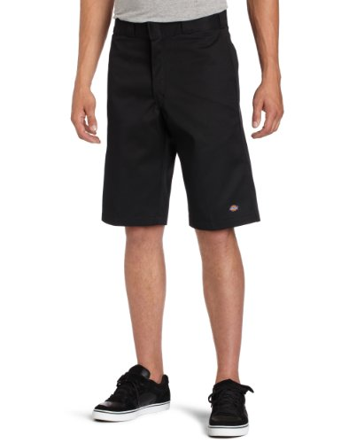 Dickies Mens 13 Inch Inseam Striped Short With Multi Use Pocket, Black, 30