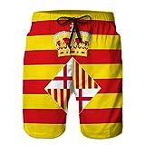 Xunulyn Shorts de Playa de natación clásica atlética con Bolsillos...
