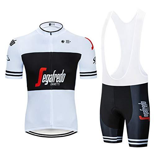 STEPANZU Ropa Ciclismo Hombre Verano Bicicleta Montaña Maillot + Pantalones Cortos Equipo...