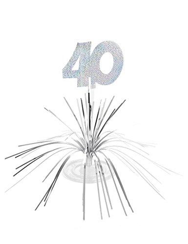 Generique - Centre de Table 40 Ans Argent