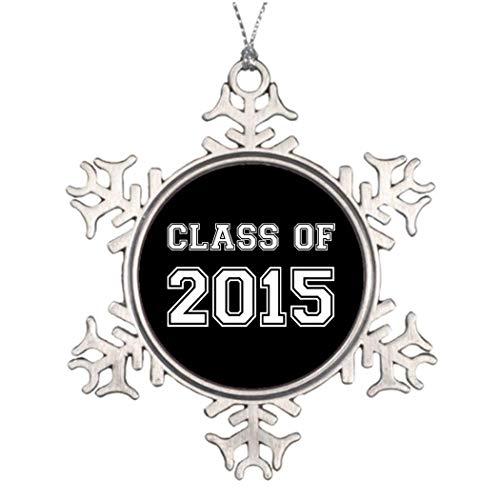 Monsety Class of 2015 - Adornos Decorativos para árbol de Navidad (tamaño pequeño), diseño de Copo de Nieve