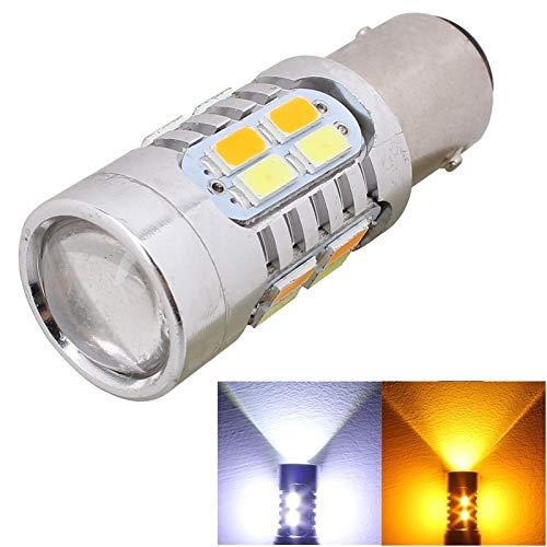 WJH 2 PCS 1157 / BAY15D 10W 700LM Amarillo Luz Blanca 20-LED SMD 5630 Bombilla de luz de Freno de automóvil, Corriente Constante, CC 12-24 V