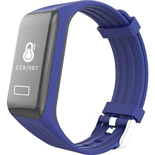 Intelligentes Armband GroßBild-Uhr Herzfrequenz Blutdruck Blutsauerstoff Detektor Gesundheit Bericht SchrittzäHler Chronograph Uhr Schwarz-Weiß Watches Armband Bracelet Wasserdicht