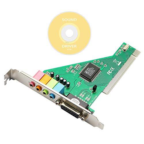 Honglei PCI Soundkarte 4.1 Desktop Computer integrierte unabhängige Soundkarte