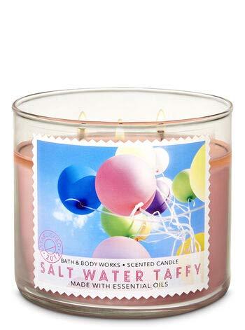Bath & Body Works 3 Wick Candle, Salt Water Taffy