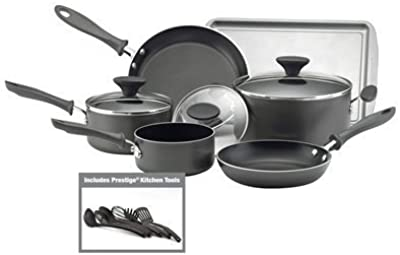 Farberware Reliance 15 piece Black Aluminum Cookware Set