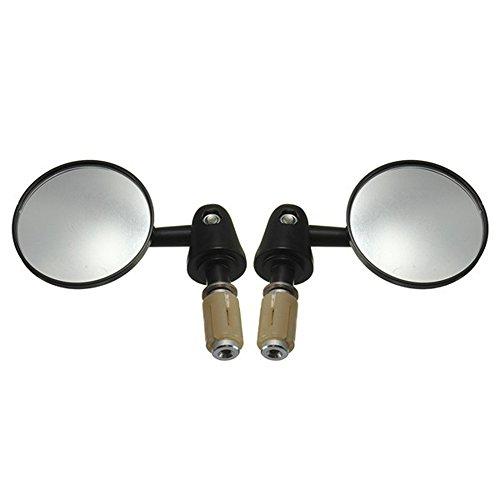 kkmoon Rückfahrkamera konvexe Seite Spiegel 1Paar Motorrad Bar End 7/20,3cm 22mm Außen Durchmesser Lenker drehbar Faltbare Runde Form Modified Zubehör