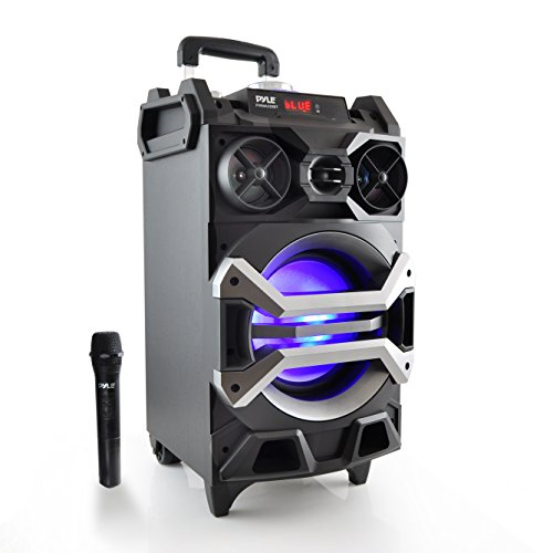 Pyle 500 Watt Outdoor Portable Bluetooth Karaoke Speaker System - PA Stereo with 8