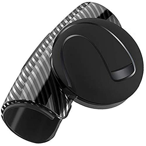 Perilla de volante, de silicona, con aspecto de carbono, para conducción, agarre de bola, fácil instalación, control flexible, accesorios universales para el coche