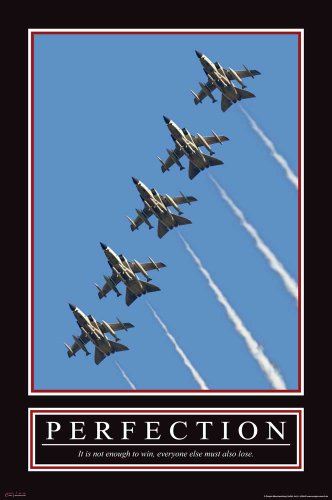Perfection Motivational Jets Düsenjäger Flugzeug Poster - Grösse cm