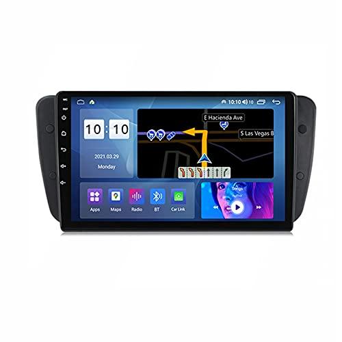 ADMLZQQ Android 10 Radio de Coche Pantalla Táctil para Seat lbiza 2009-2013 Navegación GPS Manos Libres FM USB Bluetooth Control del Volante Enlace Espejo Cámara Trasera,M100s