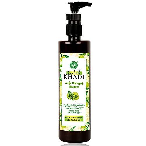 Herbal Natural Khadi Amla Bhringraj Shampoo For Hair Growth booster, Fall Control & Dry & Frizzy Hair 210 ml Men & Women ( Pack of...
